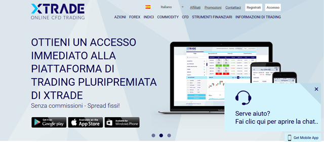 Inizia a fare trading con Xtrade